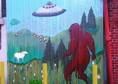 Mural at Twin Cities Trading Post