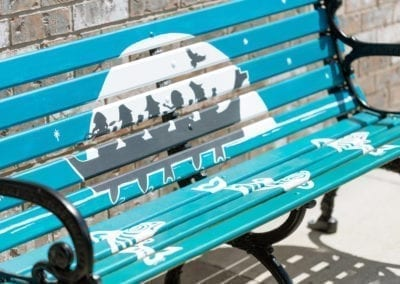 Downtown Art Benches