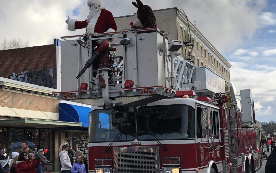 The 70th Santa Parade in Downtown Chehalis